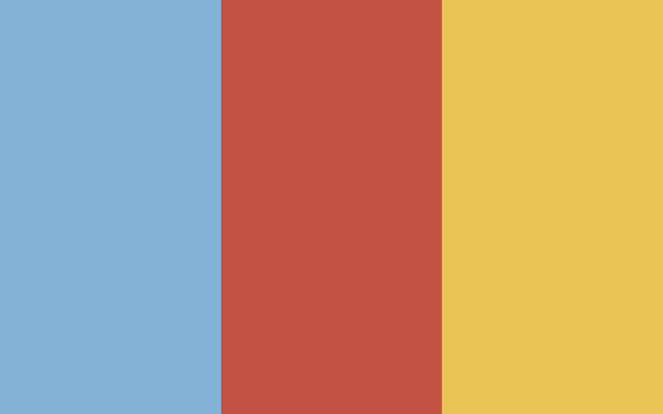Three colors: Dolphin Blue, Grandmaster Red, and Empathy Gold.