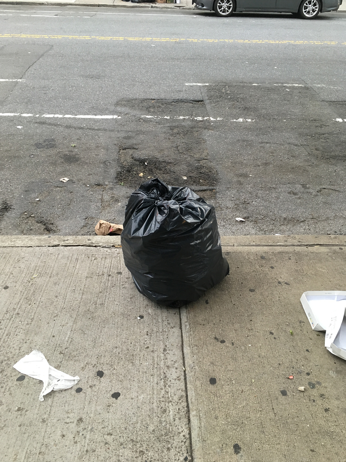 A photo of a trash bag